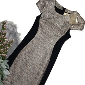 NWT Moulinette Soeurs Grisaille Tweed Sheath Dress